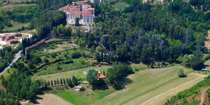 ADSI.Arezzo_Parco Botanico di Villa Della Nave_aerea